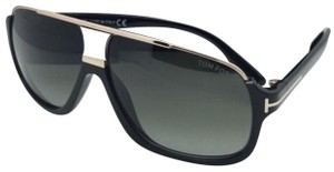 5c289b21d7 Tom Ford Polarized Quentin Tf 463 02r 60-13 Black Frame W  Green ...