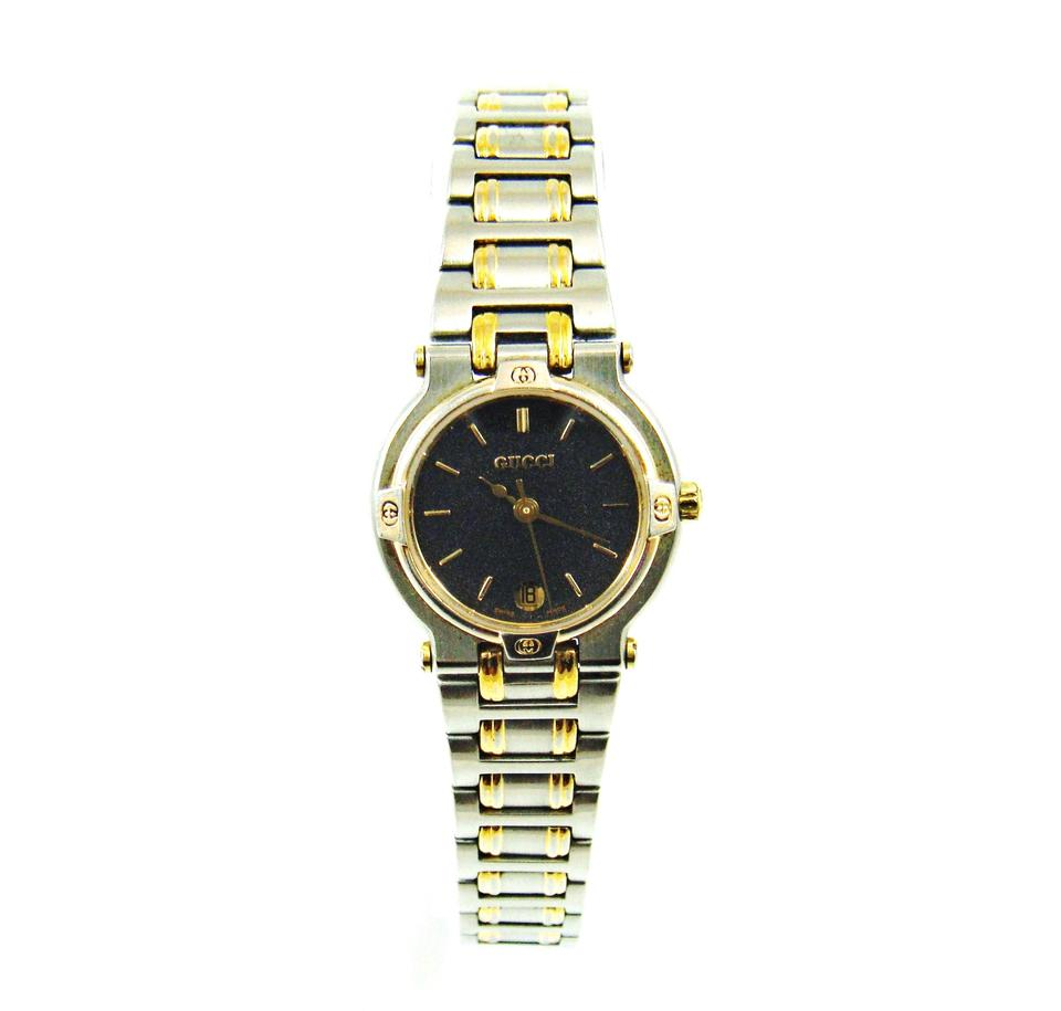 8fe36d82586 Gucci 9000L Two-Tone Gold Stainless Steel Vintage Watch Image 0 ...