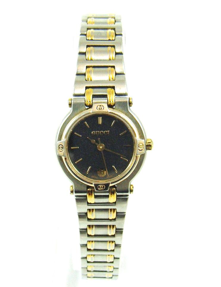 61fd198c5a5 Gucci 9000L Two-Tone Gold Stainless Steel Vintage Watch Image 4. 12345