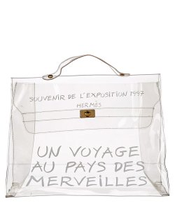 Herms Kelly Limited Edition Rare Beach See Through Satchel in Clear