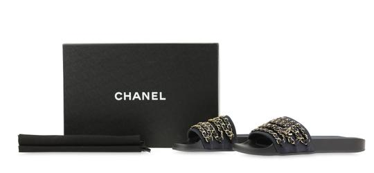 Chanel Rubber Chain Gold Hardware Blue Sandals Image 11