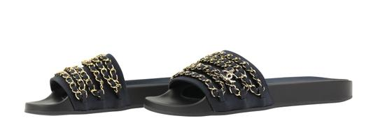 Chanel Rubber Chain Gold Hardware Blue Sandals Image 3
