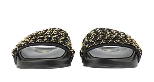 Chanel Rubber Chain Gold Hardware Blue Sandals Image 4