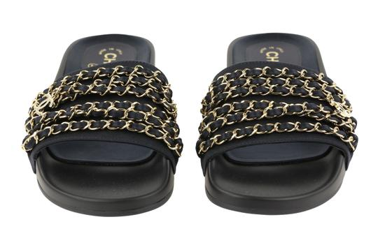 Chanel Rubber Chain Gold Hardware Blue Sandals Image 5