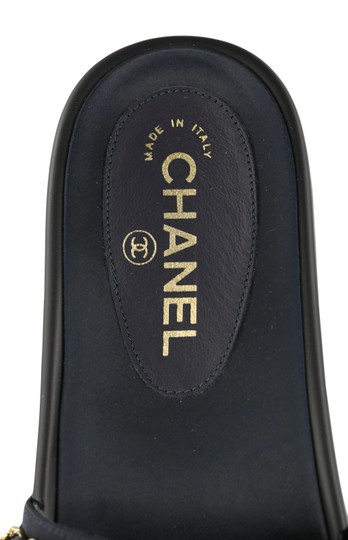 Chanel Rubber Chain Gold Hardware Blue Sandals Image 9