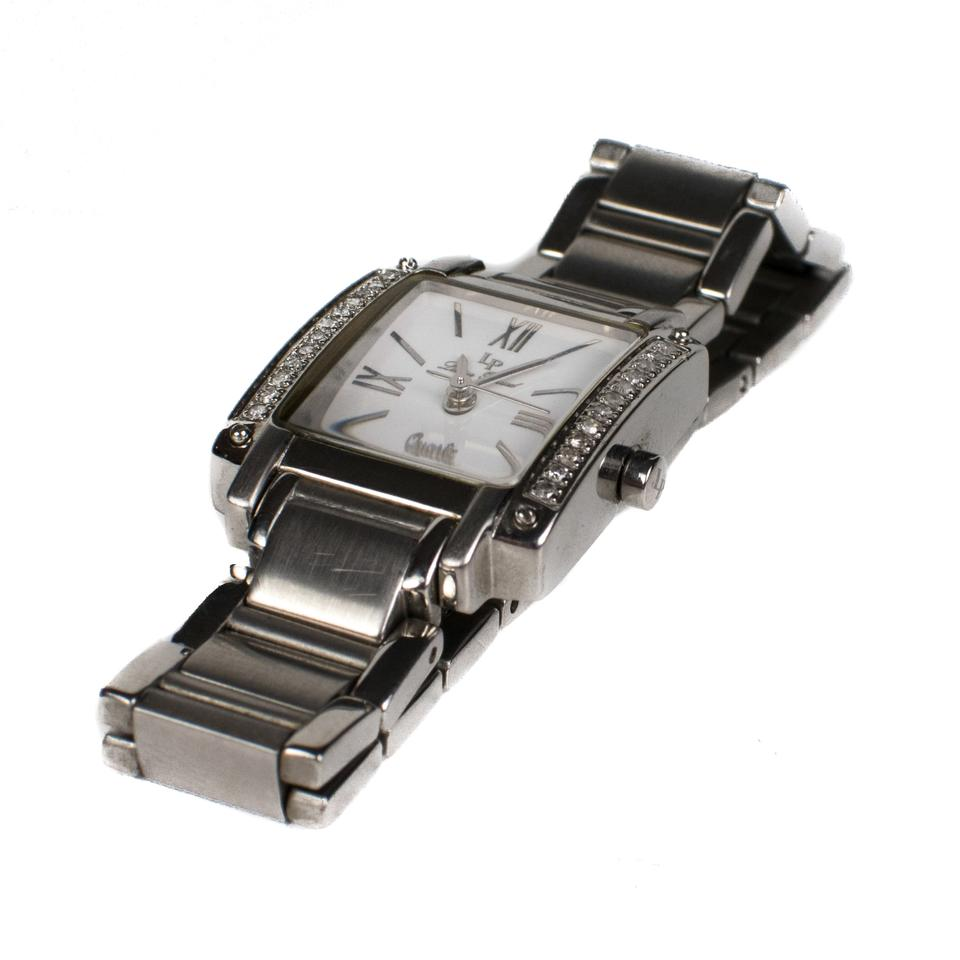 silver skinny watch i diamond lucien rectangle band face ivory piccard