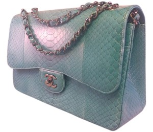 Chanel Limited Python Flap Jumbo Classic Shoulder Bag
