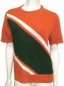 Coleman Vintage Worsted Wool 8 Sweater Orioles Cheerleader Stripe Retro T Shirt orange black white