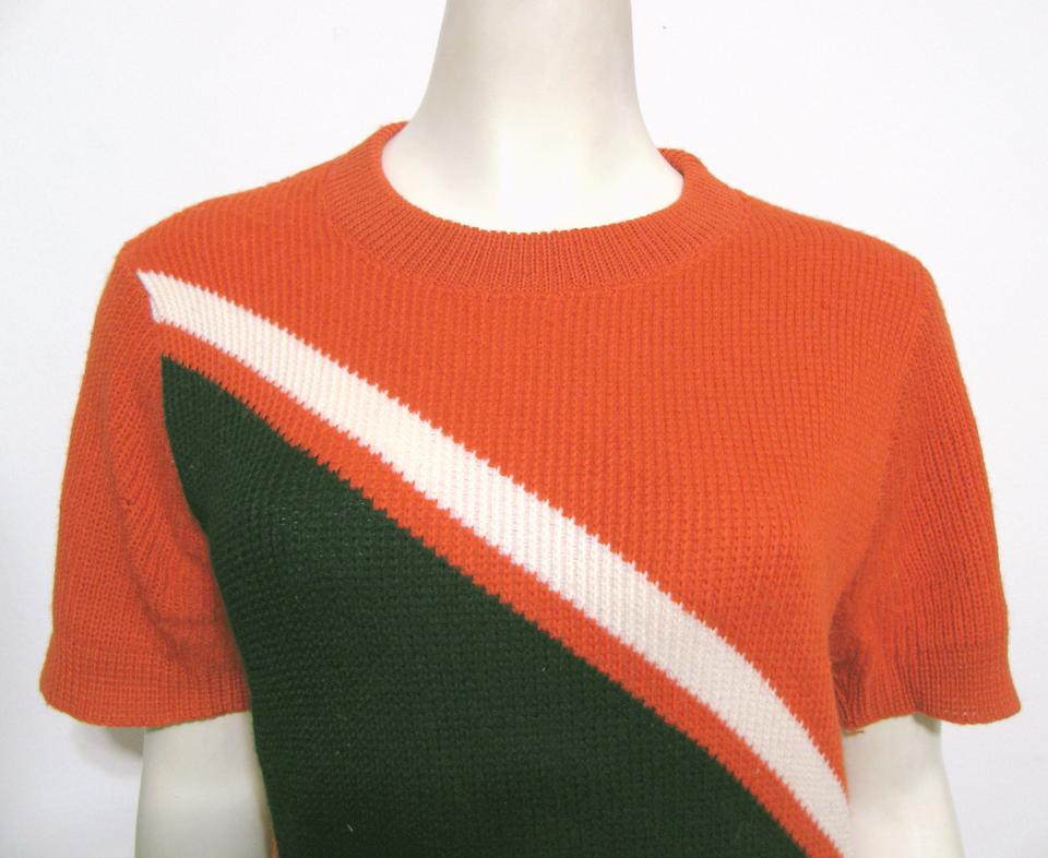 e0cc4c6bf2 Coleman Vintage Worsted Wool 8 Sweater Orioles Cheerleader Stripe Retro T  Shirt orange black white. 123456789101112
