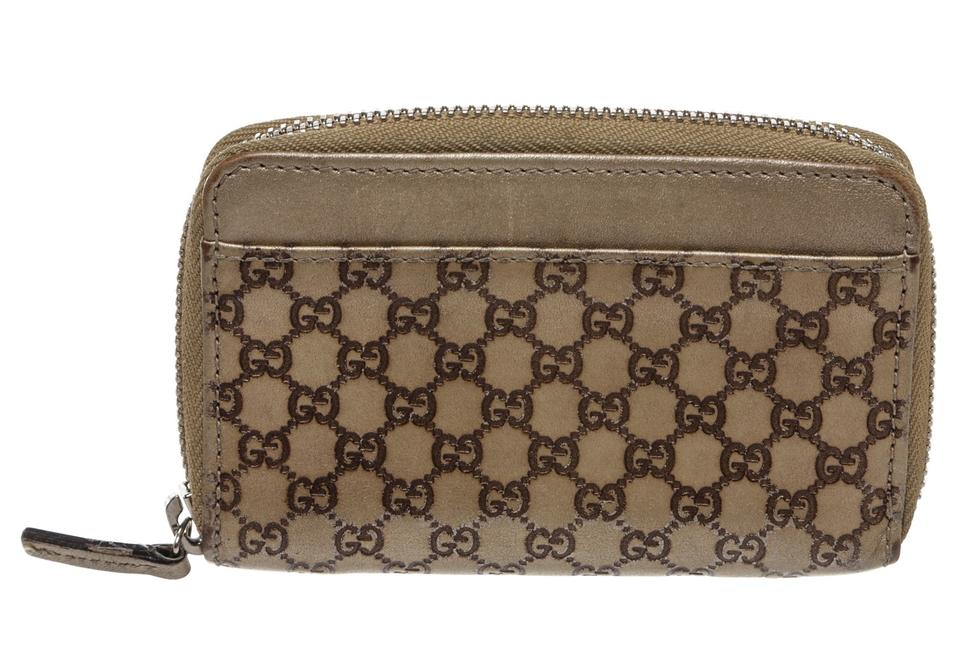 3e3c4f0cc51e Gucci Gold Guccissima Leather Zip Around Small 208612 Wallet - Tradesy