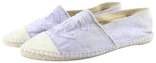 Chanel Sandals Woven Sildes Slippers Ballerina Lilac Flats
