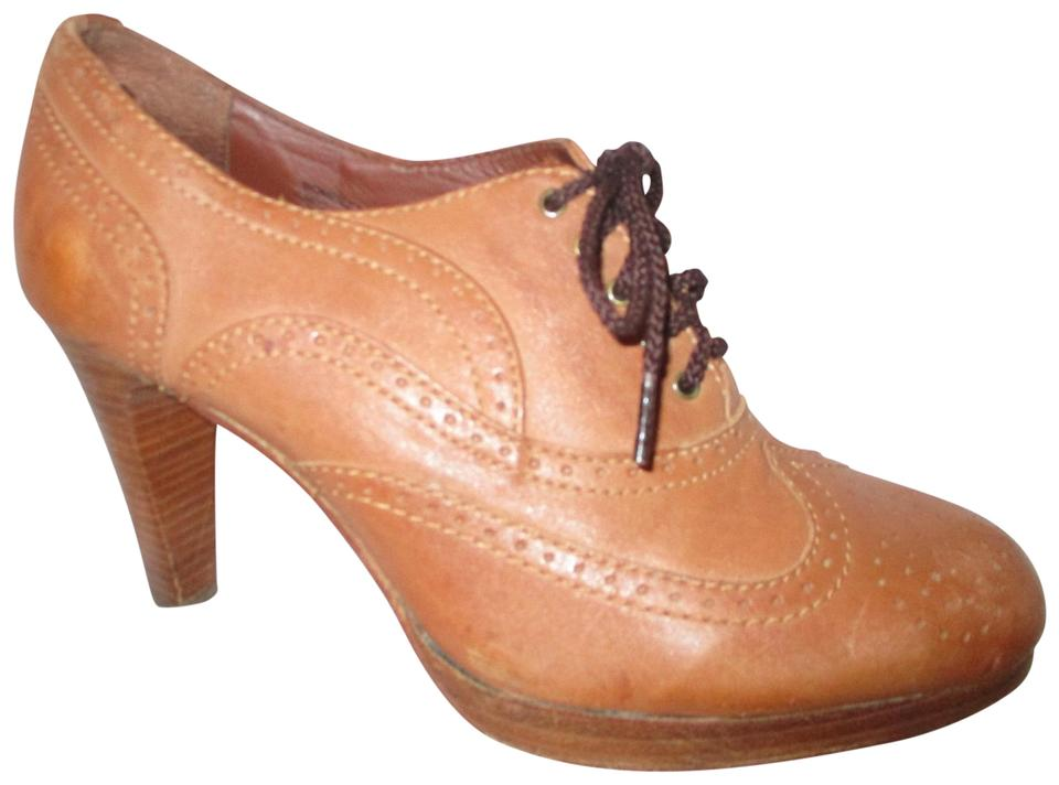 British Tan Wing Tip Oxford Oxford Tip Pumps 658734