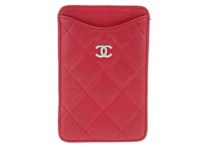 Chanel Chanel Multimedia Pink Lambskin Phone Holder Case