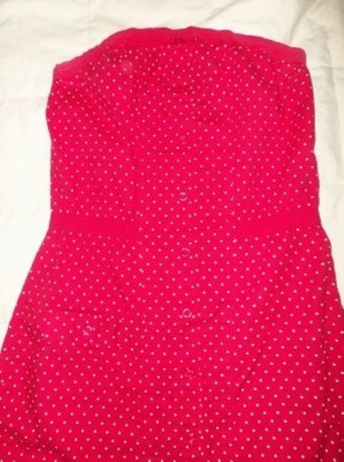 Max Rave short dress Red w/white polka dots on Tradesy
