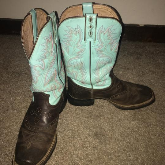 Justin Boots brown and turquoise Boots