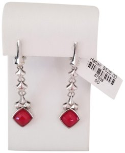 Stephen Webster Sterling Silver Superstud Coral Doublet Drop Earrings