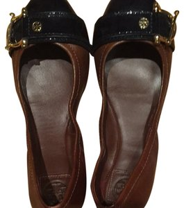 Tory Burch Brown/navy Flats