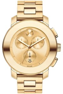 Movado Movado Bold Chronograph Yellow Gold-plated Watch