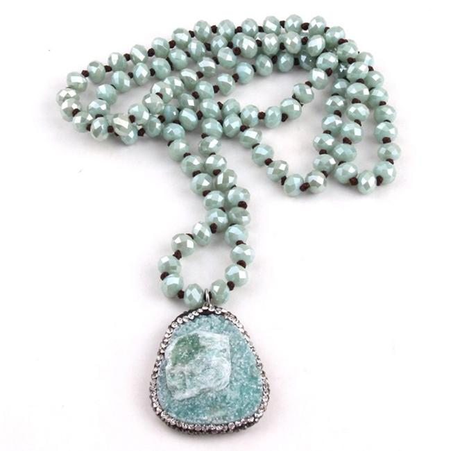 Item - Green Fashion Blue /Pink Long Crystal Necklace