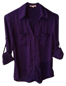 Express Portofino Buttondown Shirt Button Down Shirt Purple