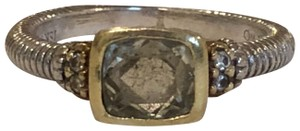 Judith Ripka Judith Ripka Stackable Ring with Citrine and Diamonds