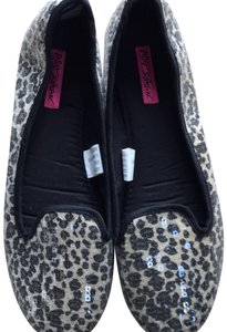 Betsey Johnson faux leopard skin covered with sequins Flats
