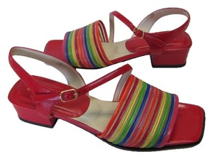 J. Renee Sandal Leather Red, Blue, Yellow, Green, Orange Sandals