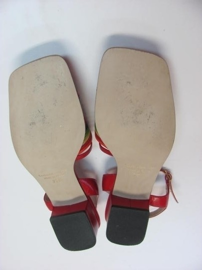J. Reneé Leather 7.50 N Red, Blue, Yellow, Green, Orange Sandals