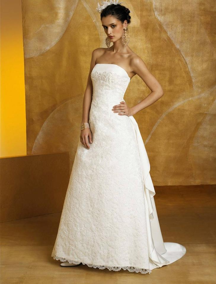St Pucchi Ivory Silk Satin And Embroidered Lace Victoria Z182
