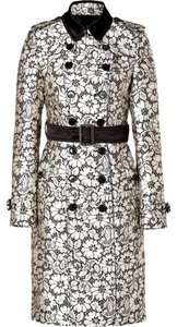 Burberry Lace Floral Satin Trench Coat