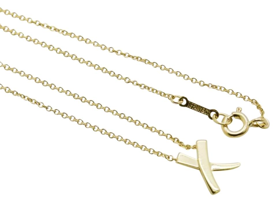 6e2be8383549d Tiffany & Co. Yellow Gold Paloma Picasso Kiss X Pendant Necklace ...