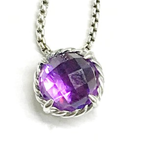 "David Yurman STUNNING!!! David Yurman 8mm Faceted Amethyst ""Chatelaine"" Necklace"