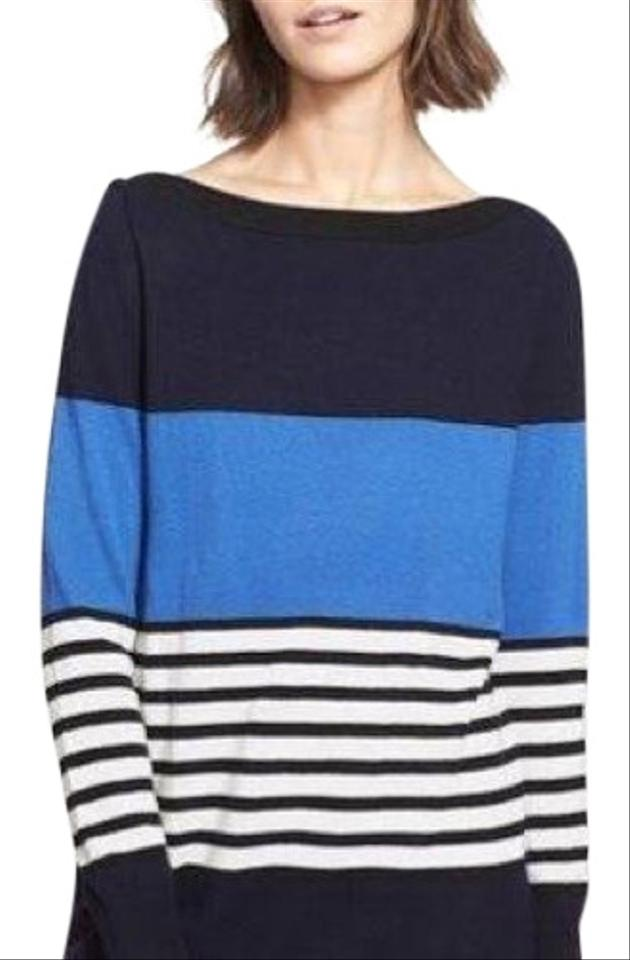 Blue and black striped sweater - Interracial - Video XXX