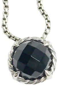 "David Yurman GORGEOUS!! David Yurman Black Onyx Faceted ""Chatelaine"" Necklace"