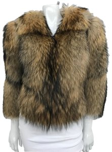 Adrienne Landau Racoon Small Fur Coat