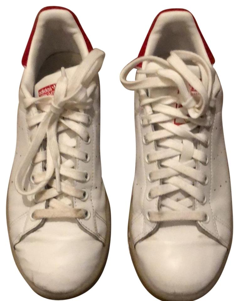 72132d5680 adidas White and Red Rare Stan Smith with Fuzz Sneakers Size US 7.5 Regular  (M, B) 18% off retail