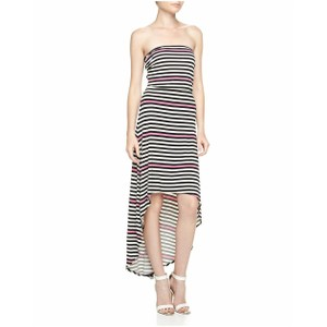 Neon Pink Black White Stripe Maxi Dress by Laundry by Shelli Segal