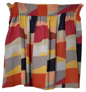 Tory Burch Mini Skirt Red Canyon Colorscape 961