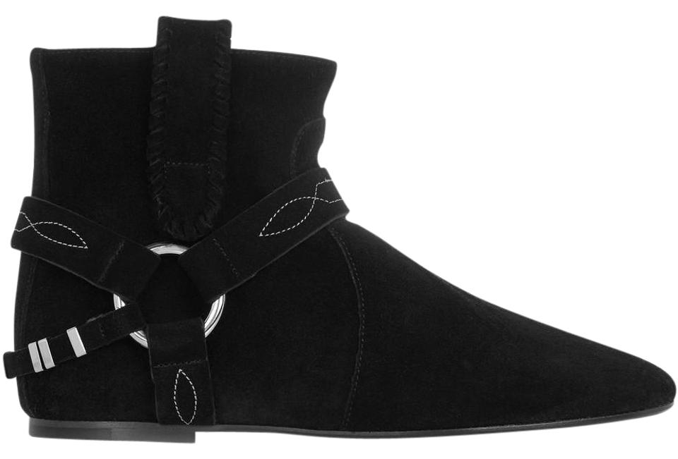 Isabel Marant Suede Black Ralf Harness Flat Suede Marant Ankle Boots/Booties 967ada