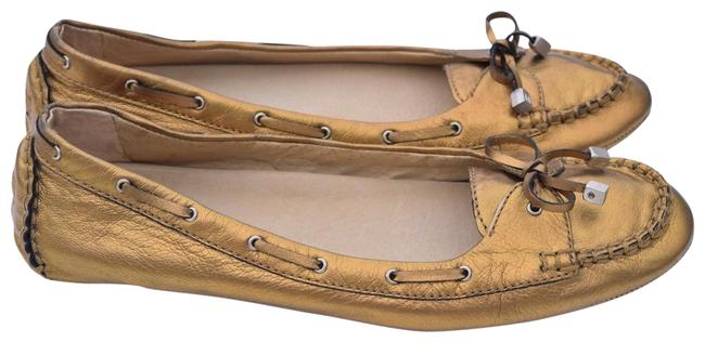 Item - Gold Leather Flats Size US 10 Regular (M, B)
