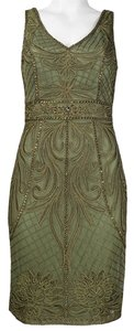 Sue Wong Sleeveless Sheath Dress