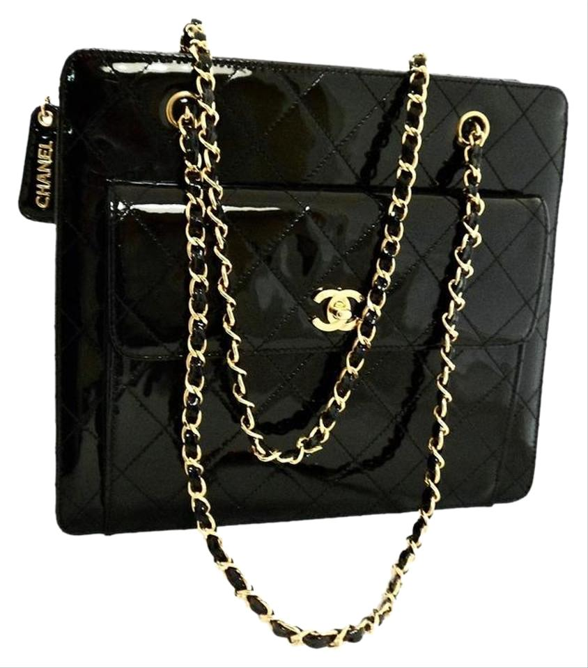 62ed9ef7c5 Chanel 2.55 Reissue Vintage Shoulder Quilted Chain Black Patent ...