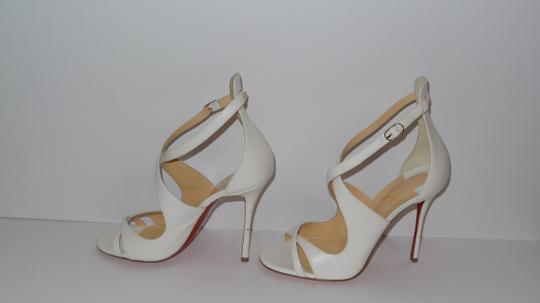 the latest 1af13 3fc36 Christian Louboutin Leather Malefissima 100 White Sandals Size EU 40  (Approx. US 10) Regular (M, B) 24% off retail