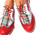 Equipt for Play Plaid Golf Suede Leather Classic madras red Athletic