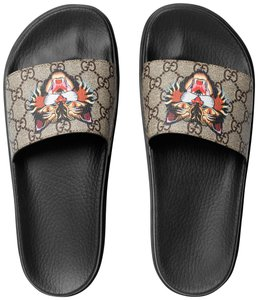 Gucci Angry Cat Slide Angry Cat Slide Gg Supreme New Sandals