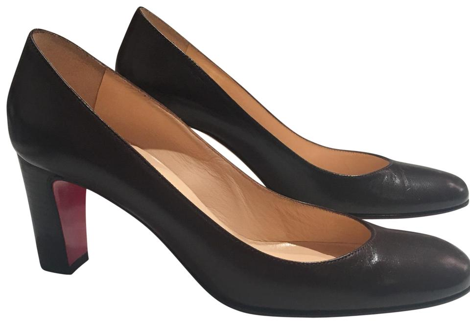 ed5080dfbfd Christian Louboutin Brown Simple with Stacked Heel Pumps. Size  EU 37 ...