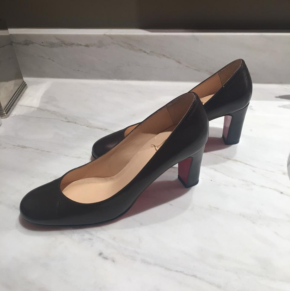 d68cd6ac40c Christian Louboutin Brown Simple with Stacked Heel Pumps Size EU 37  (Approx. US 7) Regular (M