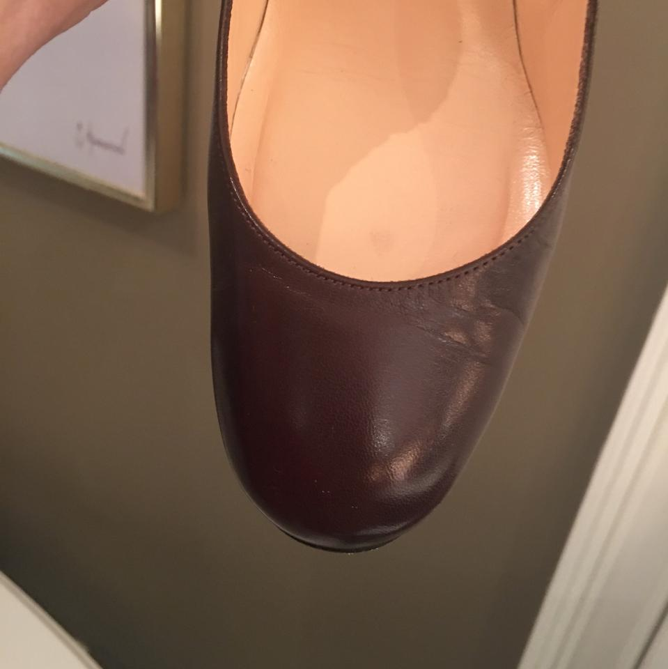 52d2918488b Christian Louboutin Brown Simple with Stacked Heel Pumps Size EU 37 ...