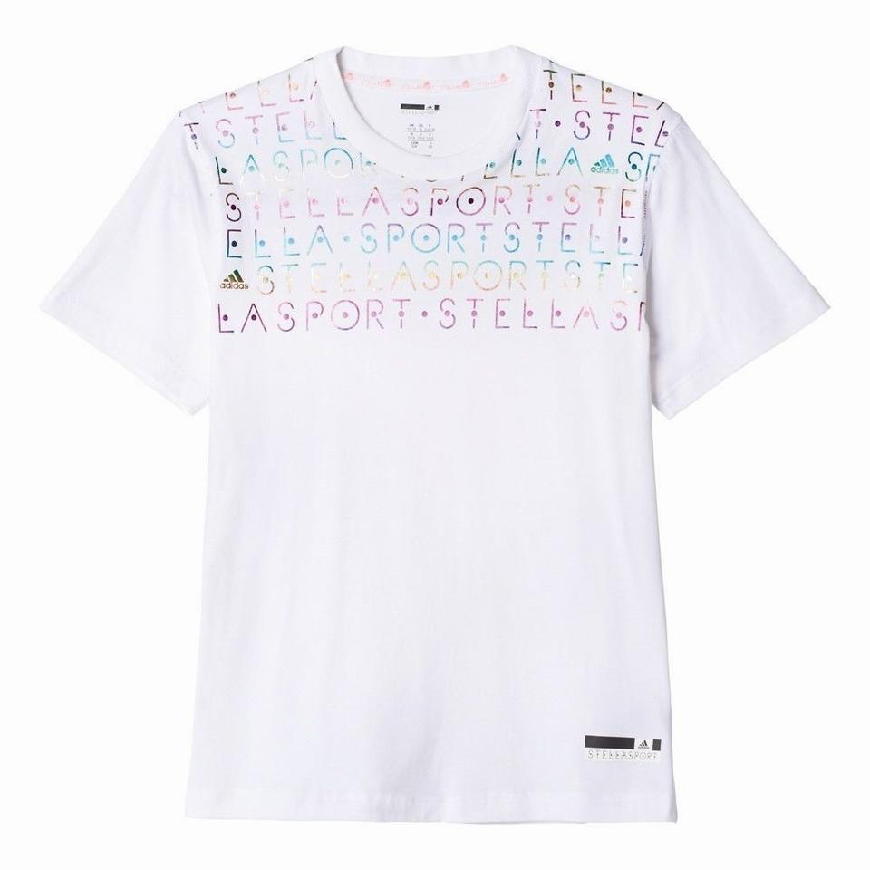 buy popular bf339 e5e55 adidas By Stella McCartney White Organic Athletic Activewear Top. Size  8 (M,  29 ...
