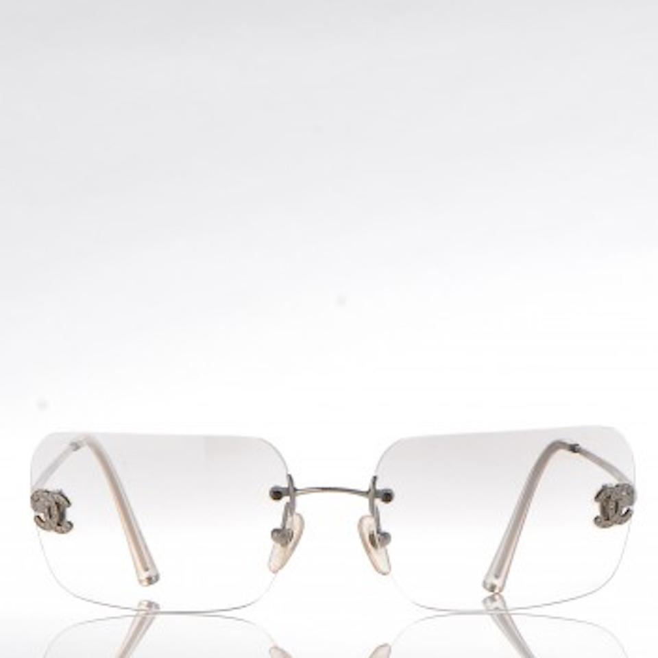 8593ef95b8c Chanel Light Grey Clear 4017-d with Rimless Sunglasses - Tradesy